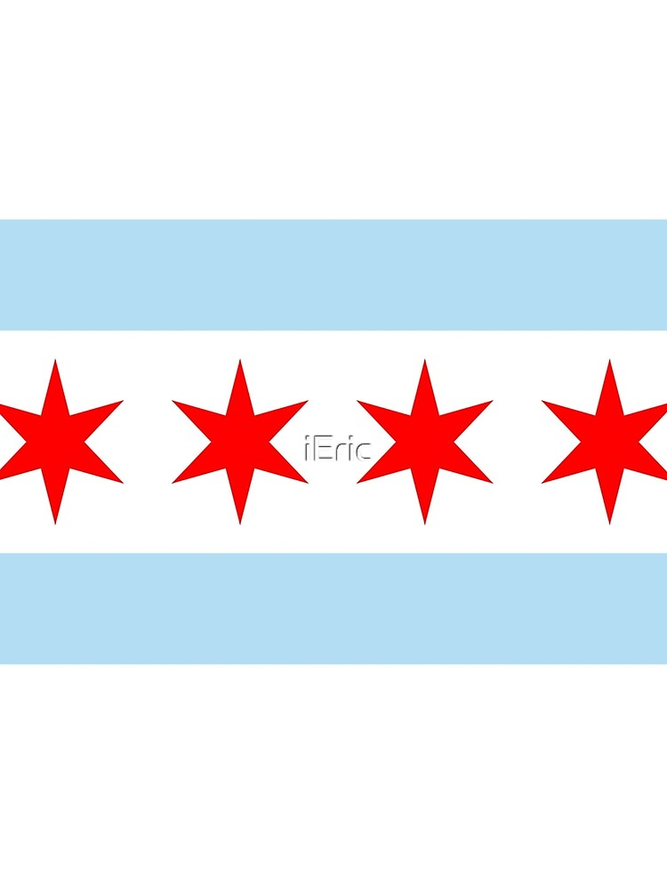Patriotic Chicago Flag by frittata