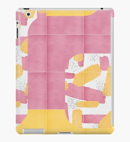 Bold Painted Tiles 01 #redbubble #midmod iPad Case/Skin