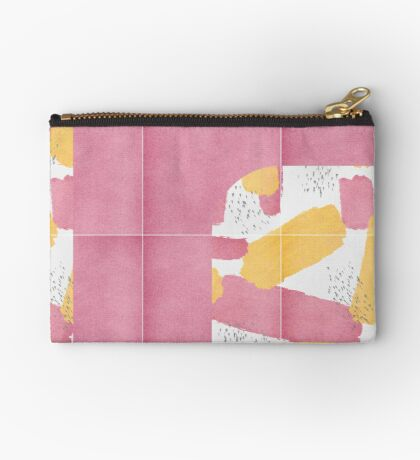 Bold Painted Tiles 01 #redbubble #midmod Zipper Pouch