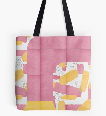Bold Painted Tiles 01 #redbubble #midmod Tote Bag