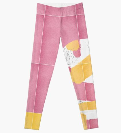 Bold Painted Tiles 01 #redbubble #midmod Leggings