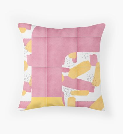 Bold Painted Tiles 01 #redbubble #midmod Floor Pillow