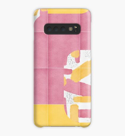 Bold Painted Tiles 01 #redbubble #midmod Case/Skin for Samsung Galaxy