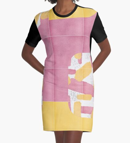 Bold Painted Tiles 01 #redbubble #midmod Graphic T-Shirt Dress