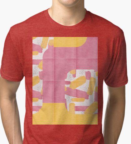 Bold Painted Tiles 01 #redbubble #midmod Tri-blend T-Shirt