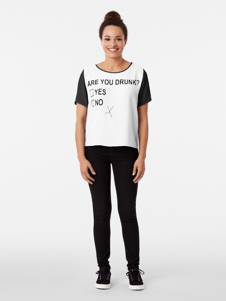 Alternate view of Are You Drunk Chiffon Top