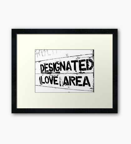 Designated love area Framed Print