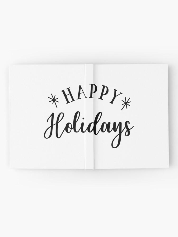 Alternative Ansicht von Happy Holidays Notizbuch