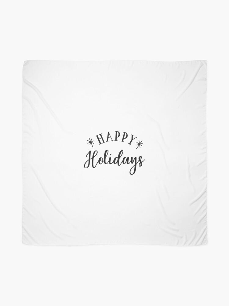 Alternative Ansicht von Happy Holidays Tuch