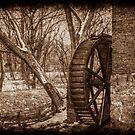Kerr Mill Waterwheel in Winter by Christine Annas