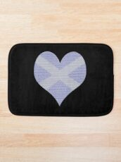 Scots Words in a Saltire in a Heart Bath Mat
