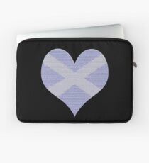Scots Words in a Saltire in a Heart Laptop Sleeve