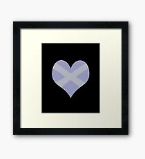 Scots Words in a Saltire in a Heart Framed Print
