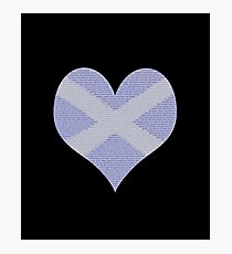 Scots Words in a Saltire in a Heart Photographic Print