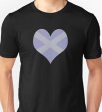 Scots Words in a Saltire in a Heart Slim Fit T-Shirt
