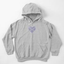Scots Words in a Saltire in a Heart Kids Pullover Hoodie