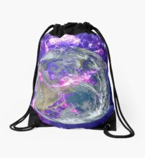 End Of The Earth? Drawstring Bag