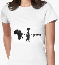 Africa + Women = Power Women's Fitted T-Shirt