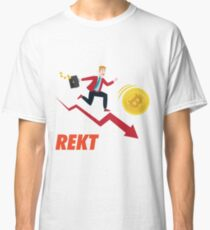 Bitcoin Rekt Crying Classic T-Shirt