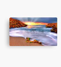 Sunset over Seaside Robe Canvas Print