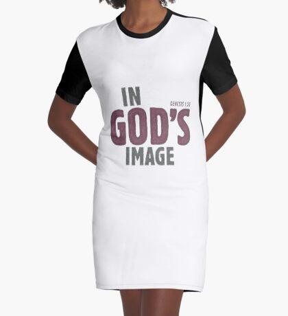 In God's image - Genesis 1:26 Graphic T-Shirt Dress