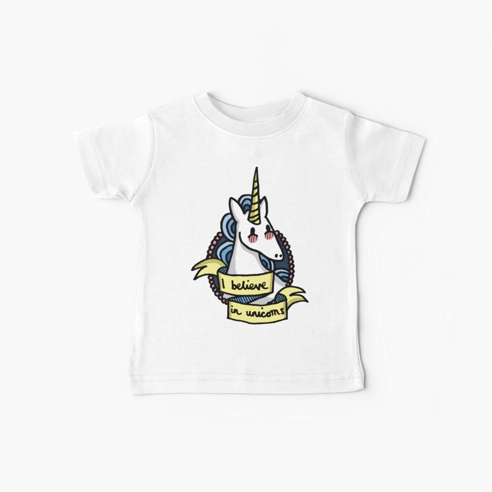Ich glaube an Einhörner Baby T-Shirt