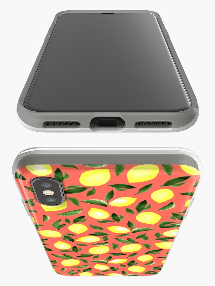 Alternate view of Lemons. Red pattern iPhone Case & Cover