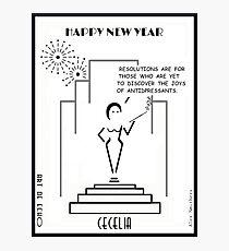 Cecelia - Happy New Year! Photographic Print