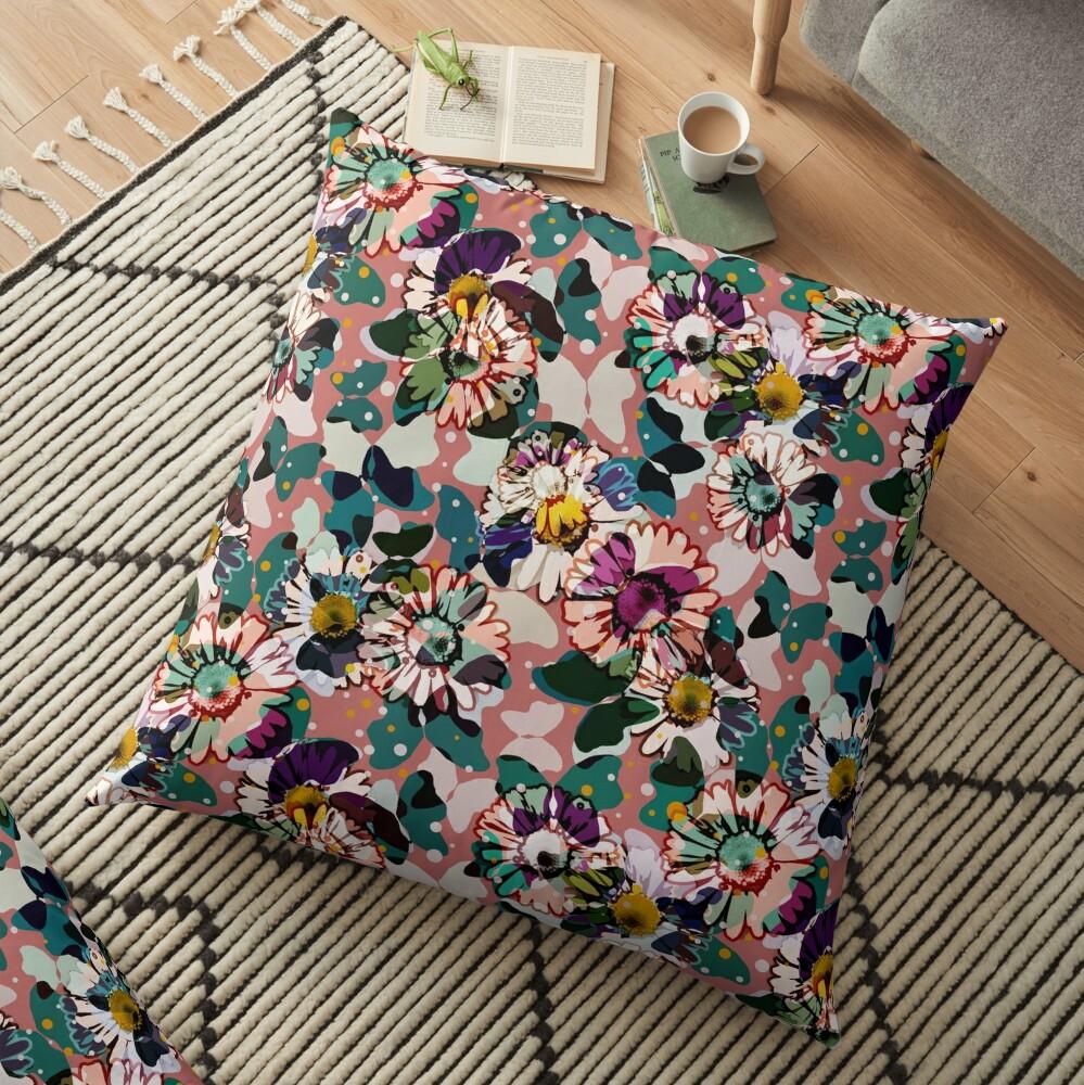 Vintage Butterflies III Floor Pillow