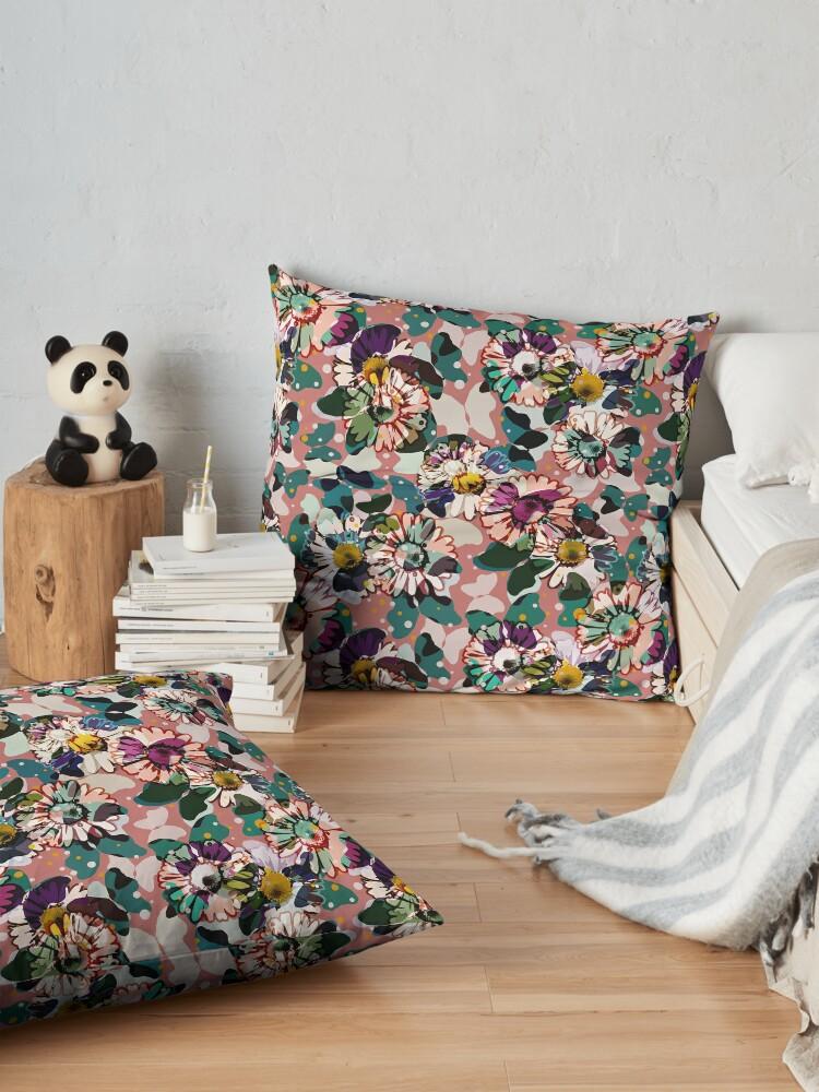Alternate view of Vintage Butterflies III Floor Pillow