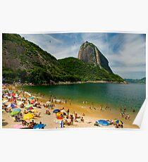 Praia Vermelho, Rio de Janeiro Poster