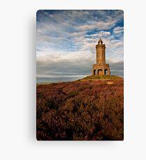 Darwen Tower in late summer Canvas Print