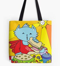 Fast Food Cat Tote Bag