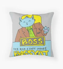 Boss Cat Throw Pillow