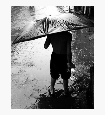 Rain and the child Photographic Print