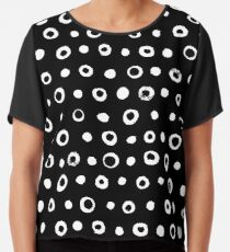 SCANDI DOTS VINTAGE BLACK AND WHITE Chiffontop