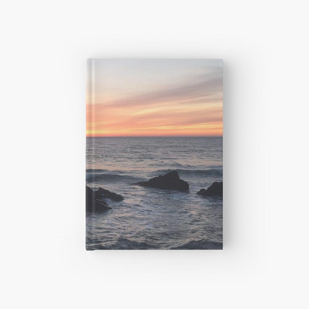 Sunset over Putsborough Hardcover Journal
