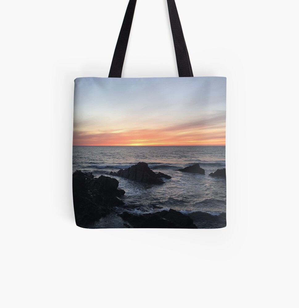 Sunset over Putsborough All Over Print Tote Bag