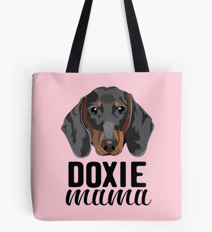 Doxie mama - dog mom, dog mama, doxie mama, dog mom shirt, tricolored, doxie, cute dog, dog  Tote Bag
