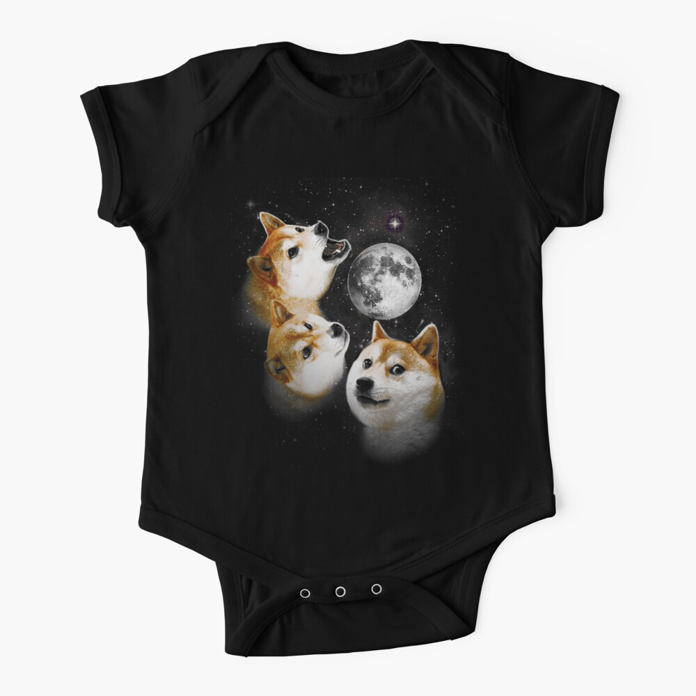 Three Doge Moon Baby One-Piece