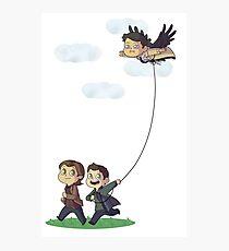 Team Free Kite Flying Photographic Print
