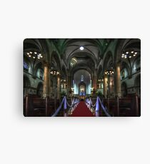 Manila Cathedral Nave Canvas Print