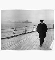 Winston Churchill auf See Poster