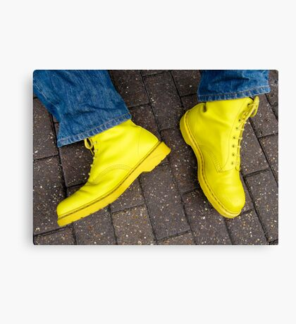 Yellow Docs and Blue Jeans (magic moment) Canvas Print