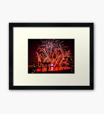 Epcot Fireworks - Illuminations Reflections of Earth Framed Print