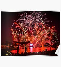 Epcot Fireworks - Illuminations Reflections of Earth Poster