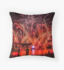 Epcot Fireworks - Illuminations Reflections of Earth Throw Pillow