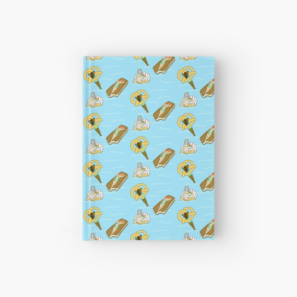 Foodie Pool Party Hardcover Journal