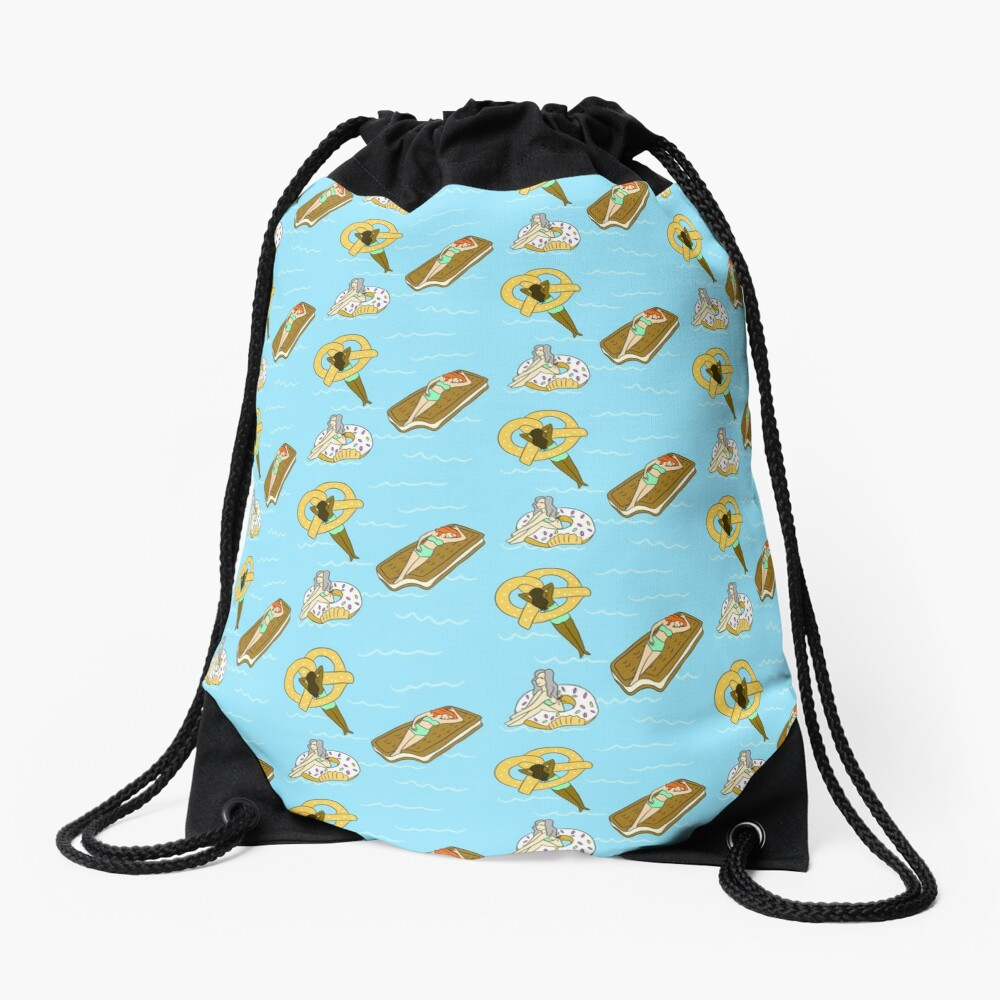 Foodie Pool Party Drawstring Bag