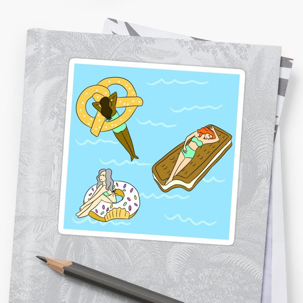 Foodie Pool Party Sticker